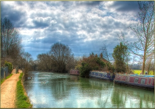 Clouds Along the Canal by Dave Putz